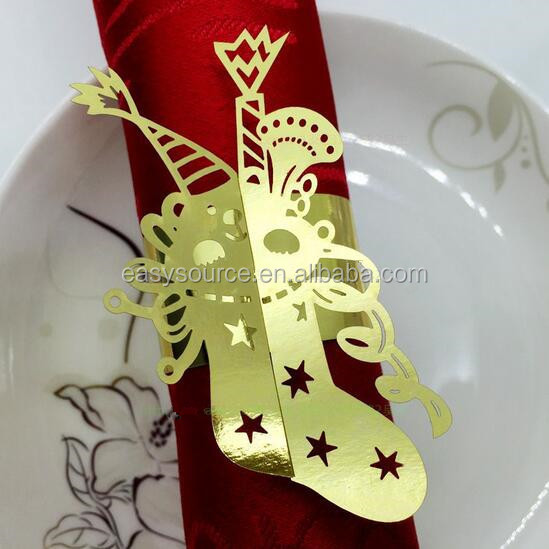 OEM shoe shape Party table decoration paper towel holder/napkin ring CK16