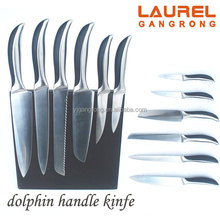 6 pcs varied stainless steel & ABS kitchen knife with magnetic board KS582