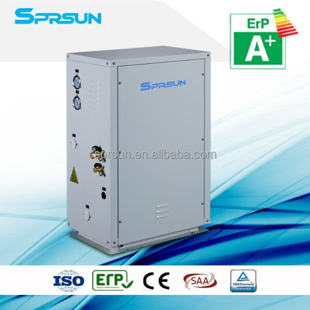 air source split type, ERP label, EVI heat pump for home heating and water heating