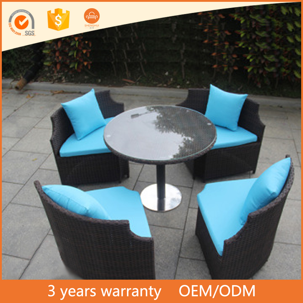 Round Shaped Wicker Leisure Sofa Rattan Outdoor Patio Furniture