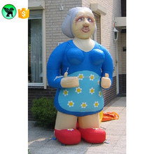 Event Promotion Inflatable Old Woman Cartoon Customized Advertising Old Man Model Inflatable For Exhibition A871