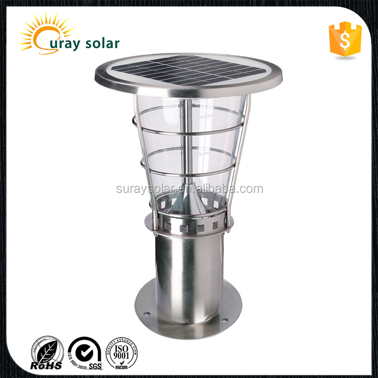 2016 New Product 2w 120 Lumen Solar Pathway Lawn Light stainless steel Solar LED Garden