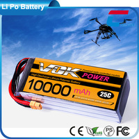 4S 25C 14.8V 10000mAh RC Lipo Battery for 3D Airplane Aerobatics