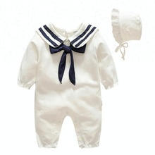 2018 Spring Newborn Baby White Cotton Infant Clothing Romper