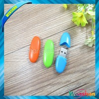 special shape USB,2gb/4gb oval plastic usb flash drive/memory stick OEM in bulk for wholesale
