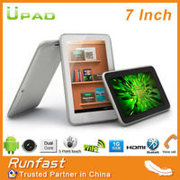 cheap 7-inch 3G Tablet PC with Dual-core MTK6577 CPU, Phone Call, GPS and BT Functions