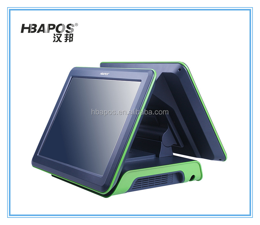 "Alibaba retail customized color 15"" two touch screen pos system,all in one touch screen pos"