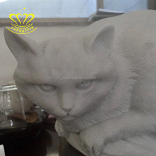 Customized mostpopular marble stone cat statue for home decor