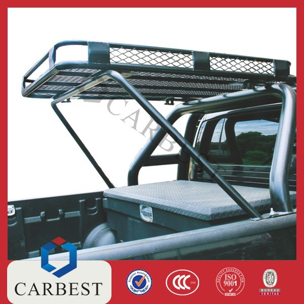 Good Quality Steel Powder Coated Roof Rack with Steel Roll Bar for Vigo 05-11