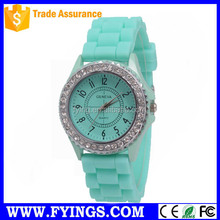 watch women silicon watch japan quartz movement geneva watch
