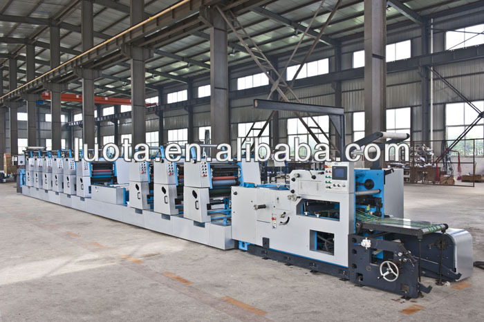 multicolor digital paper printing machine business form ofset rotary press machine