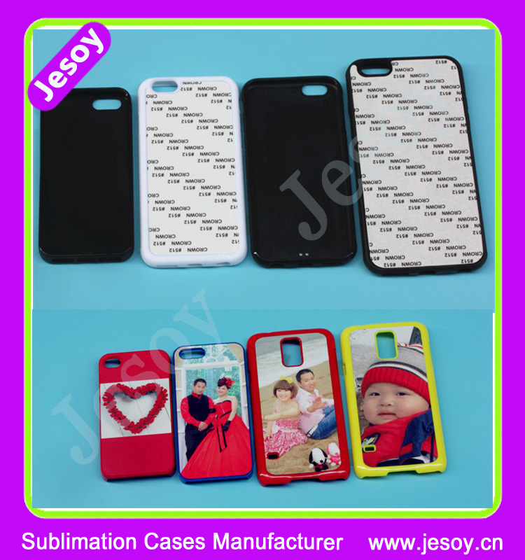 JESOY For iphone 6 Black Case,Mobile Sublimation Case 2D For iPhone Case Sublimation Blanks