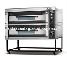 Factory outlet electric pizza oven with double decks six trays