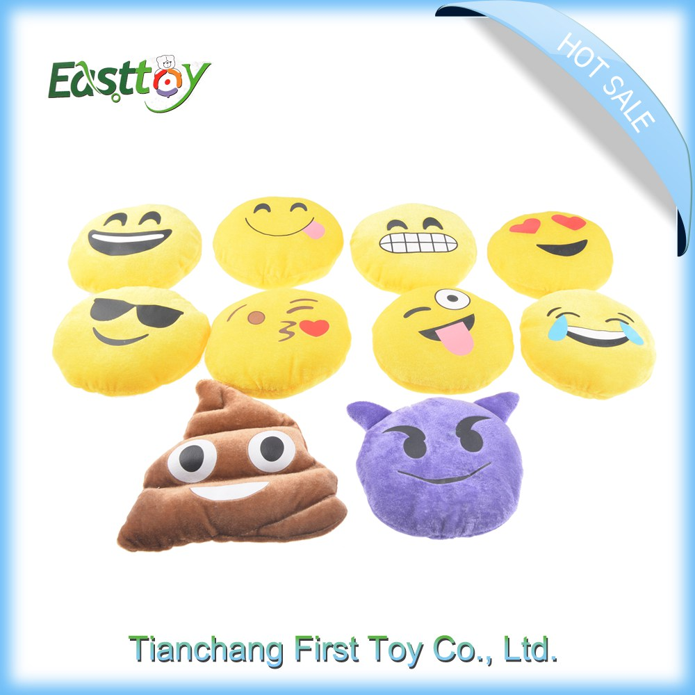 China Latest style plush emoji, baby doll/pillow case