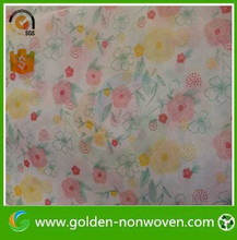 Golden Nonwoven! Nice printing nonwoven fabric/100% PP spunbond technology