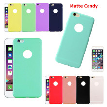 Candy TPU Matte Silicone Rubber Slim Back Cover Skin for iPhone 5 5S 6 6S 7 7s Plus Ultra Thin Soft Frosted Phone TPU Case