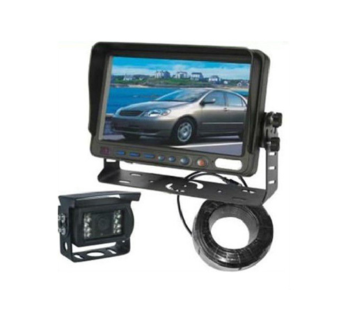 rearview mirror car monitor with 7 tft lcd with Waterproof IR Color CCD Camera VCAN0338