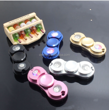 good quality EDC LED light stainless steel fidget cube spinning top toy
