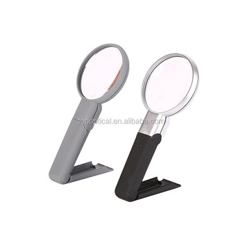 Handheld PMMA lens LED Magnifier with 2x4x magnification