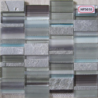 Hot sale glass and stone mosaic tile backsplash HP5009 in foshan factory