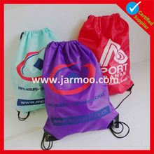 2016 high quality promotional nylon red drawstring bag
