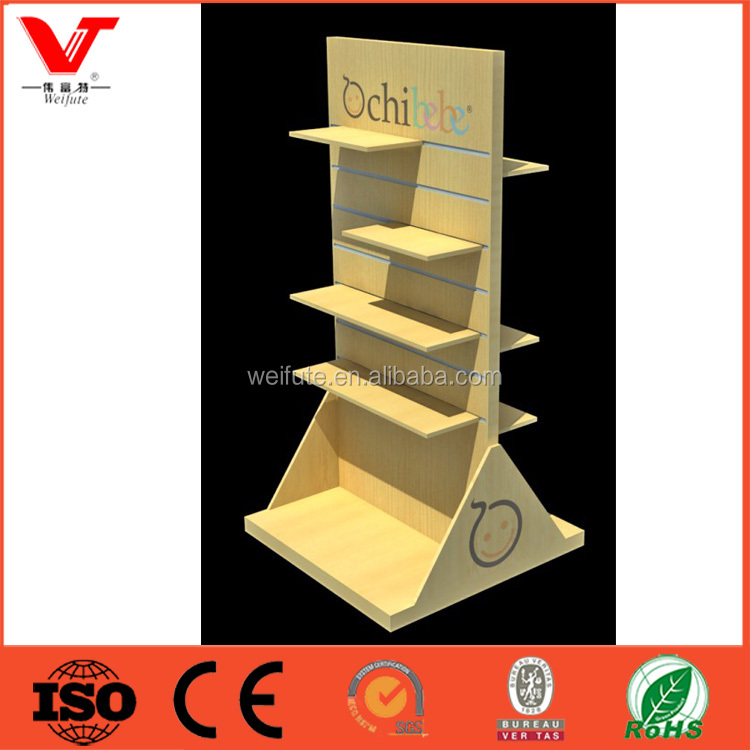 Slatwall display stand dispaly shelf gondola with triangle plate fixed