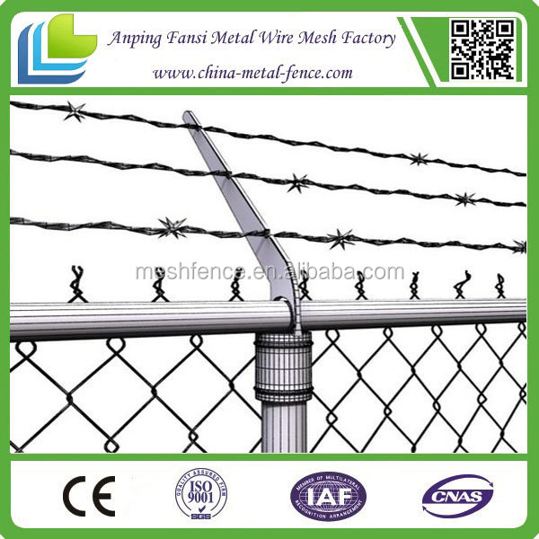 alibaba china - chain link fence with barb wire /8x8 fence panels/chain link perimeter fence designs