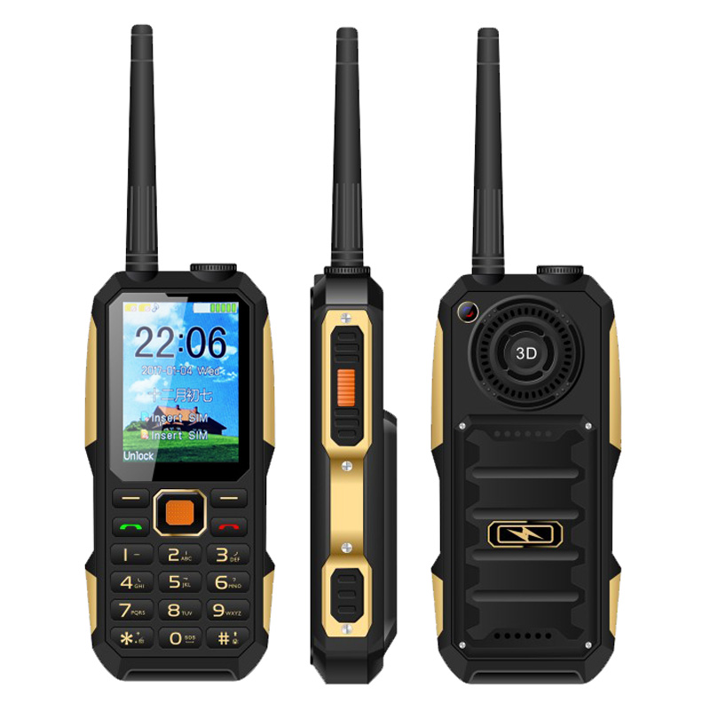 2.4 Inch Dual SIM Card UHF 400-470 MHz GSM Walkie Talkie Mobile Phone