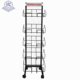 customized durable metal wire tabloid newspaper rack
