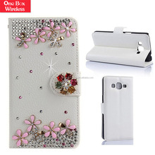Wholesale Luxury Wallet Flip Magnetic Bling Diamonds Leather Glitter Case for Samsung Galaxy S7 Edge