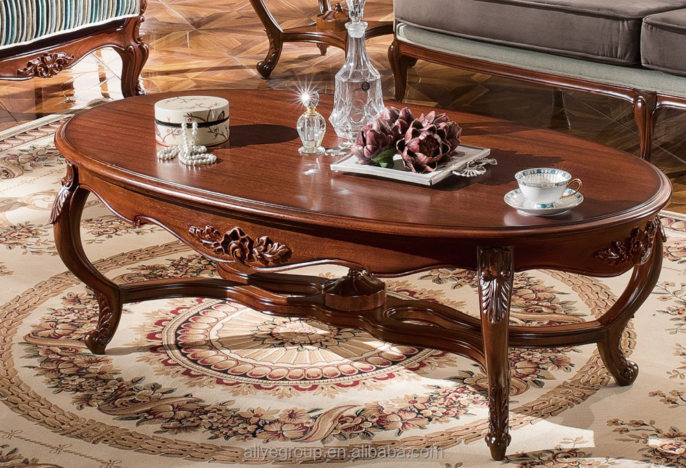 TYZC883-2-Foshan country style wooden furniture coffee table hard classic center table