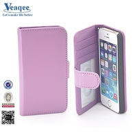 Veaqee universal flip wallet two mobile phones leather case for samsung galaxy s6