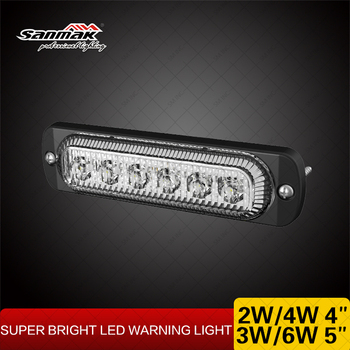 6 LEDs 3W 6W New LED Lighting Super Slim 19 Flash Pattern Strobe Light Cree LED Lightheads