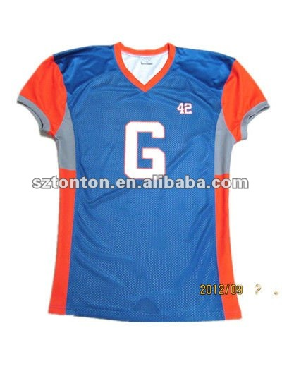 100% polyester custom football jersey 5xl