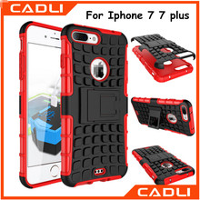 Hybrid PC TPU Tire Pattern Combo Armor Phone Case for Iphone 7 7 plus