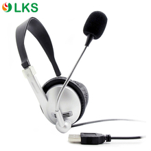 Noise cancelling call center headset Headphone with USB Plug