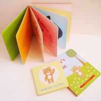 Customized high quality lovely cardboard children book