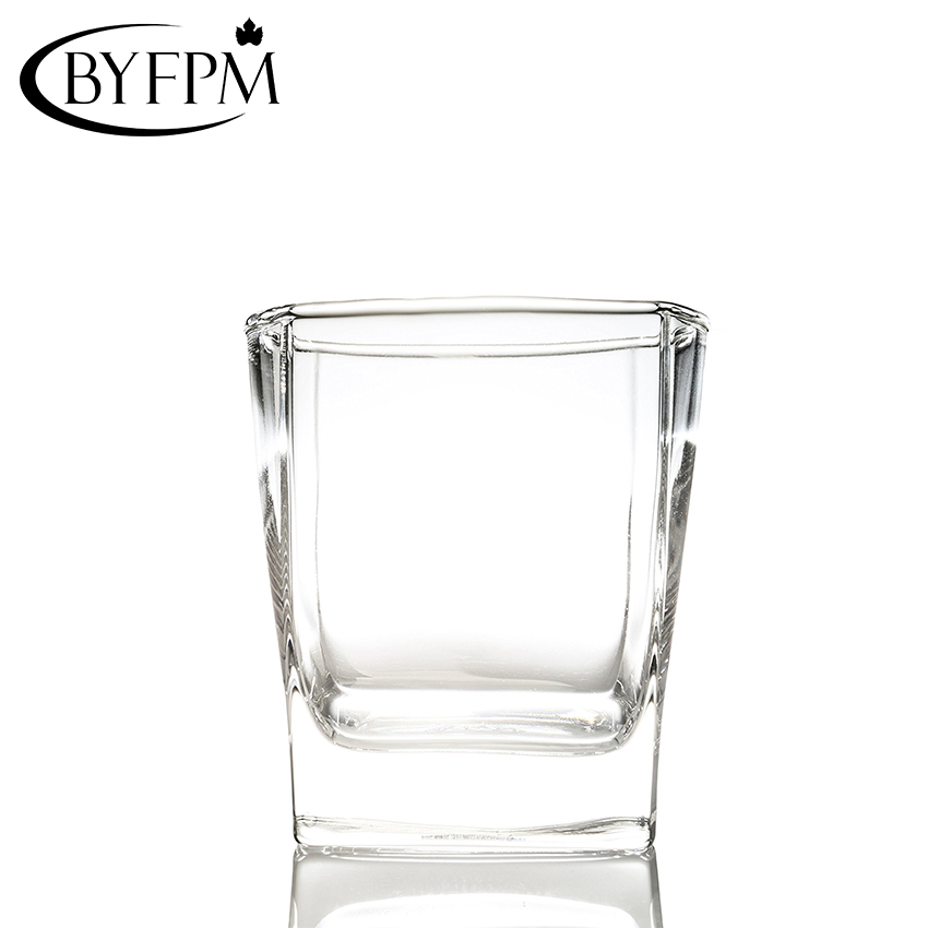 Old Fashioned Unbreakable Square Base Tumblers, Plastic PC Material 180ML Scotch Whiskey Glass