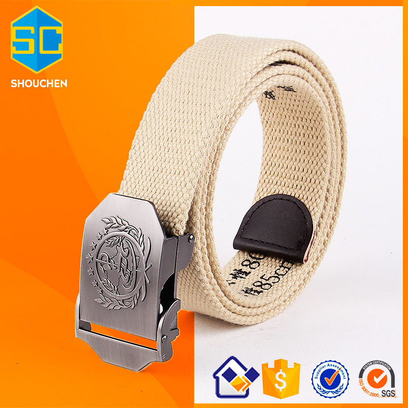 China military belt with logo print