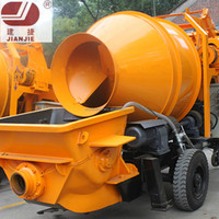JBT30 mobile concrete pump with mixer/concrete pump truck concrete pump with mixer