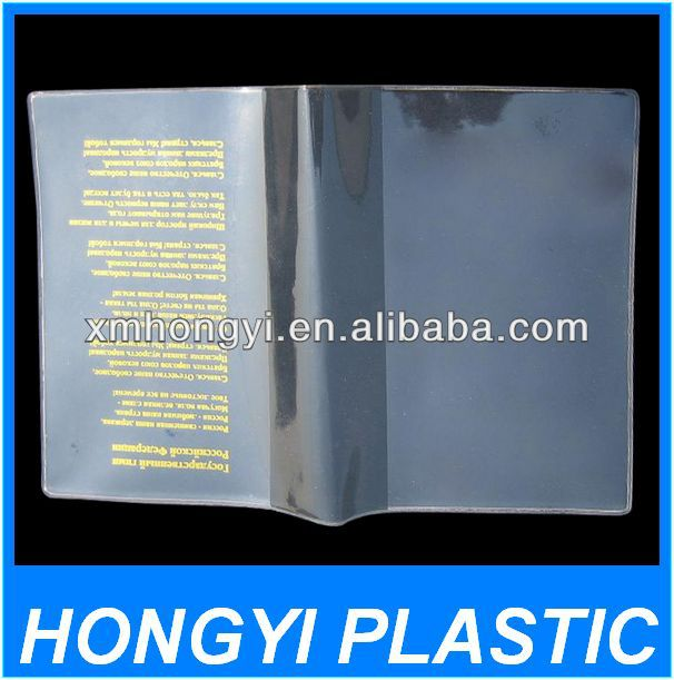 transparent pvc menu covers