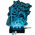 Acrylic 3D Cartoon Laser Sweet Love Shaped Sync/Charging 2.0 4 Port USB Hub for Christmas Gift