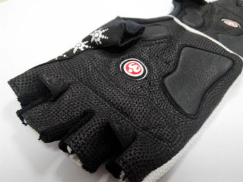 leather bicycle gloves 2 colors half finger cycling gloves