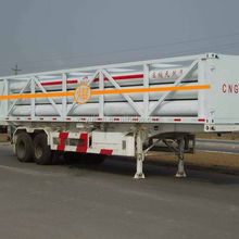 YK flexible-designing capacity 7 tubes 3 axles container trailer chassis