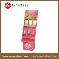 new design customized cardboard book display stands