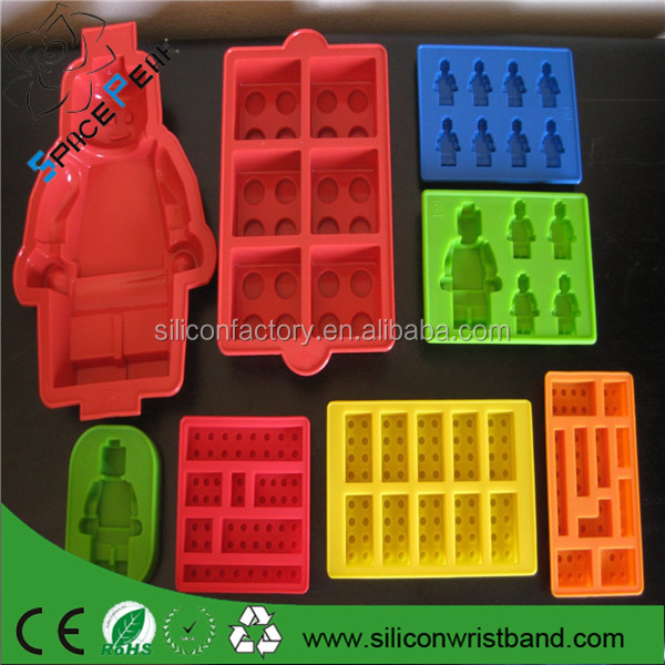 100% food grade New silicon jelly bricks molds lego,lego building Bricks and People Silicone Moulds