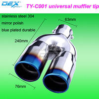 Racing car stainless steel universal exhaust muffler tips