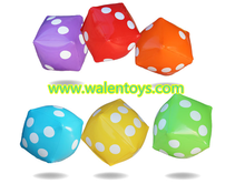 Cheap price inflatable blank dice for playing