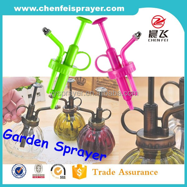 Competitive price unique design custom plant pump spray 33mm ribbed closure flower pump sprayer dosage 1.5ml in any color