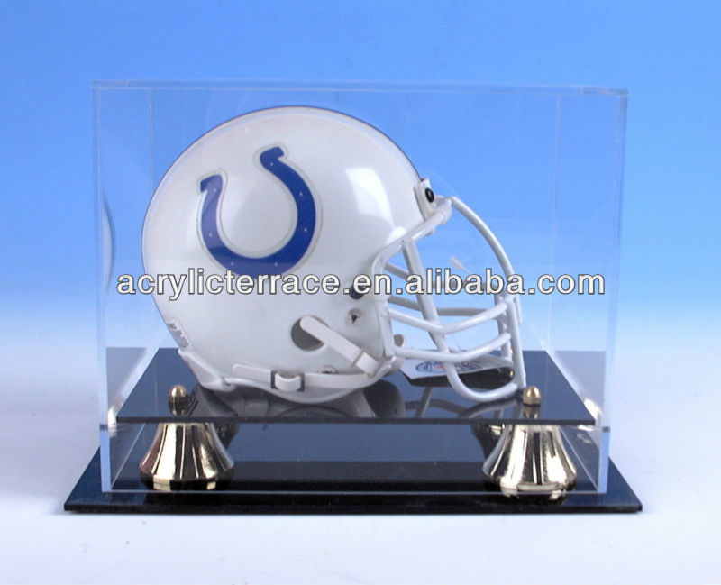 Acrylic Display Stand for Mini football helmets Acrylic Display Case for Football Helmets